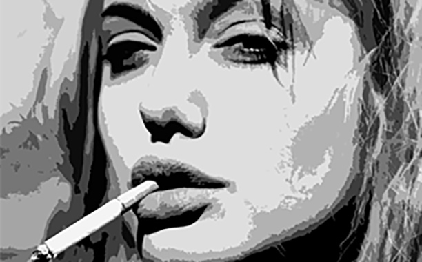 Angelina Jolie popart painting